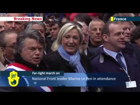 Far-right supporters march in Paris