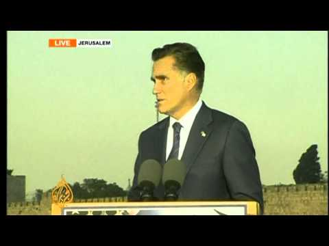 Romney pledges support for Israel