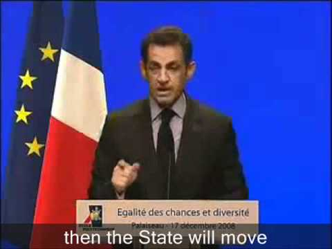 Sarkozy: Challenge of the 21st Century: Racial Interbreeding (FRANCAIS, intro anglais)