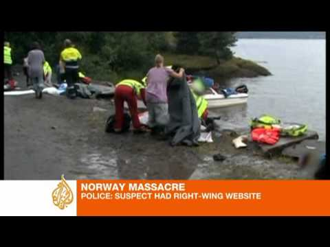 Norway massacre suspect 'had links to right-wing groups'