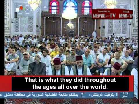 Friday Sermon in Damascus: Jews behind Civil Strife throughout Middle East