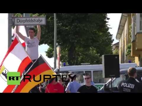 Germany: Antifa rally against NPD in Berlin