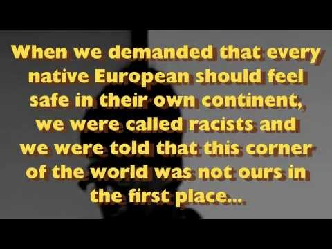 """Declaration Of White Nationalist Revolution In Europe! """
