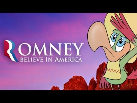 Romney Courts Hispanic Vote With Animated Sombrero-Wearing Parrot