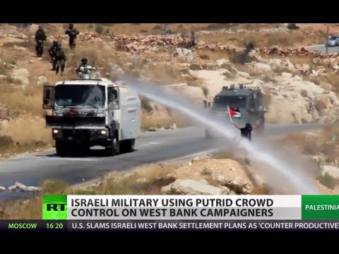 Israel sprays putrid liquid to control West Bank crowd
